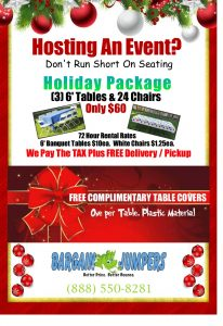 Holiday Special-Sacramento Event Tables and Chairs